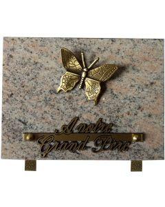 Plaque bronze papillon 15x20cm
