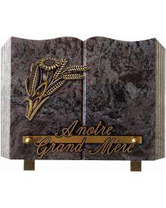 Plaque livre bronze tournesol blés