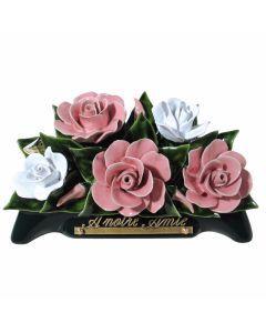 Arceau roses rose pâle et blanc