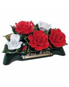 Arceau roses rouges et banches