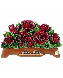 Arceau roses rouges grenat