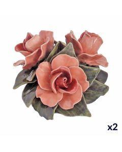 Bouquet de 3 roses saumons