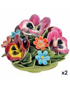 Bouquet de pensées, marguerites et fleurets