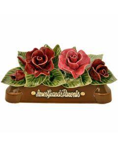 Devant de tombe 4 roses - 30 cm