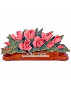 Devant de tombe boutons de roses Floralie - 35 cm