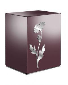 Eternel bordeaux - Urne inox motif marguerite