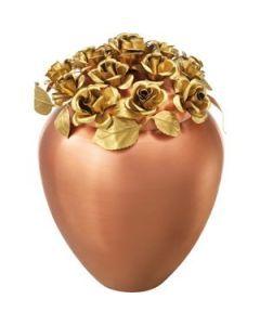 Fraga - Urne en cuivre composition roses