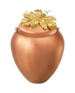 Fraga - Urne en cuivre motif feuilles