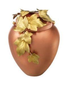 Fraga - Urne en cuivre motif lierre