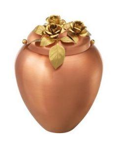 Fraga - Urne en cuivre motif roses