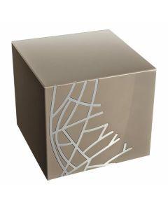 Grys - Urne acier brossé gris