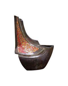 Heol - Urne mosaïque et bronze brun
