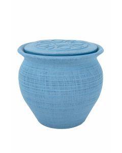 Kara - Urne céramique couleur bleu