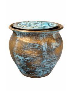 Kara - Urne céramique couleur bronze