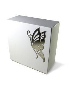 Loha anthracite - Urne inox motif papillon