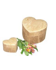 Majest - Urne bio coeur couleur bois