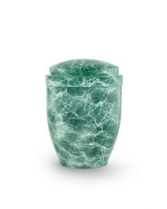 Marmor - Urne aluminium marbré vert pastel