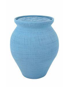 Mele - Urne céramique couleur bleu