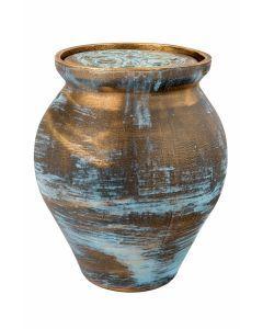 Mele - Urne céramique couleur bronze