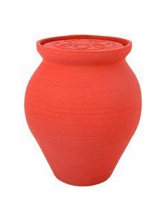 Mele - Urne céramique couleur rouge