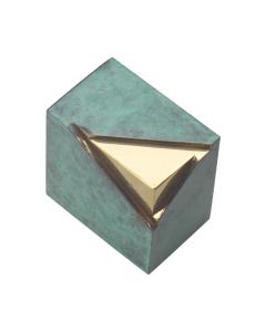 Ouro - Urne boite reliquaire bronze vert