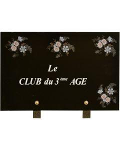 Plaque association club du 3ème age