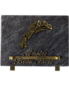 Plaque bronze arum