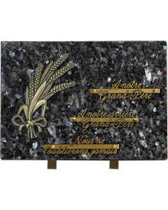 Plaque bronze blés