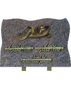 Plaque bronze chalutier 25x35cm
