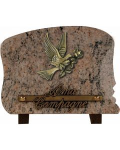 Plaque bronze colombe