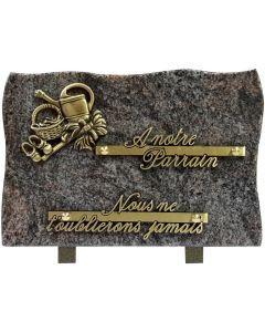 Plaque bronze équipements pour le jardin  17x25cm