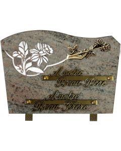 Plaque bronze main roses