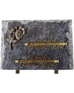 Plaque bronze marguerite