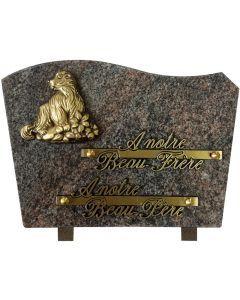 Plaque bronze marmotte 17x25cm