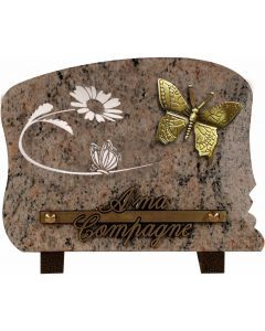 Plaque bronze papillon