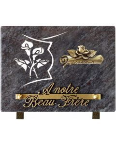 Plaque bronze parchemin