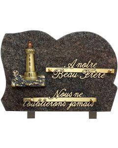 Plaque bronze phare maritime 17x25cm