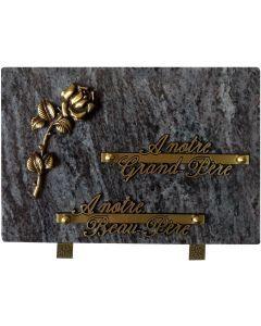 Plaque bronze rose
