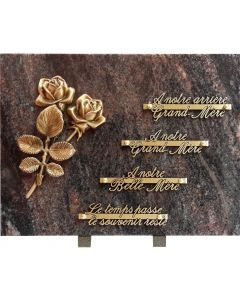 Plaque bronze roses