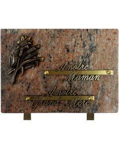 Plaque bronze tournesol