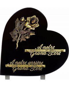 Plaque coeur bronze rose