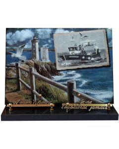 Plaque décor sur the thème de la mer 25x35cm