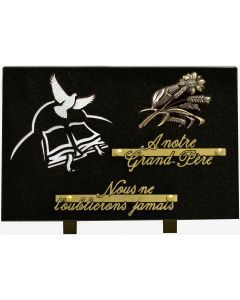 Plaque décors blanchis bronze tournesol
