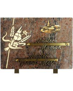 Plaque décors blanchis bronze village