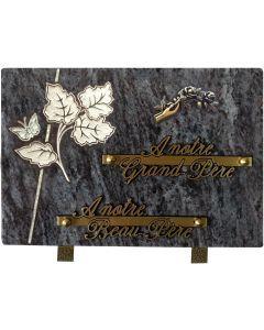 Plaque décors blanchis main fleur