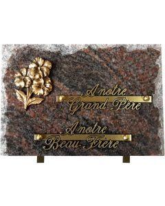 Plaque éclatée bronze pensées