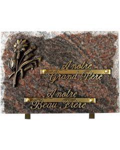 Plaque éclatée bronze tournesol