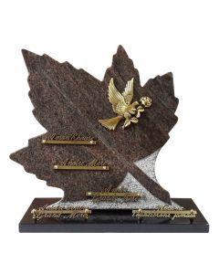Plaque feuille bronze colombe