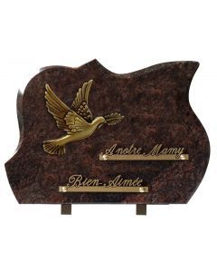 Plaque forme bronze colombe
