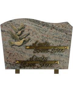 Plaque forme bronze colombes